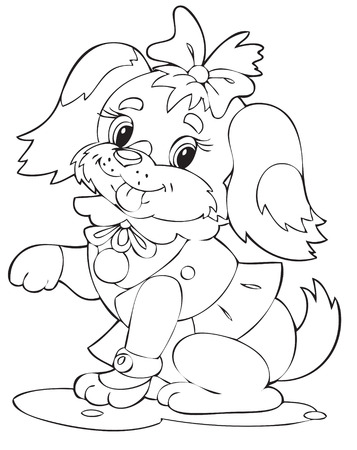 dog costume: Illustration of the happy playful dog Illustration
