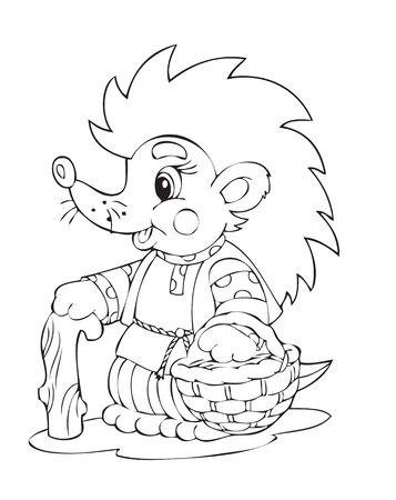 Illustration of the hedgehog worker Vector