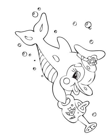 Illustration of the amusing dolphin Stock Vector - 4476710