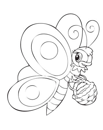 Illustration of the butterfly worker Vector