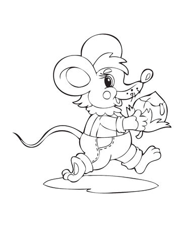 Illustration of the little amusing mouse Vector