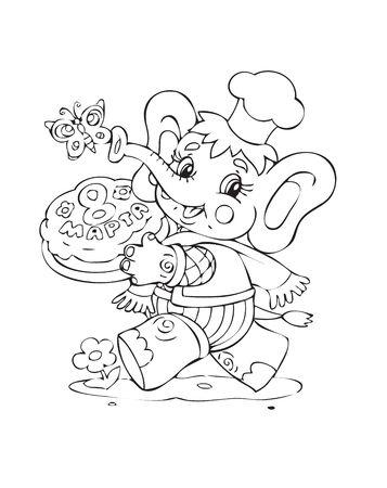 Illustration of the amusing elephant Illustration