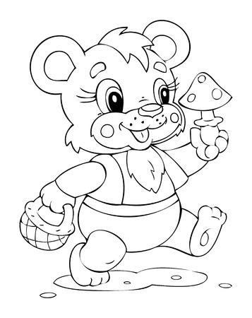 Illustration of the amusing bear
