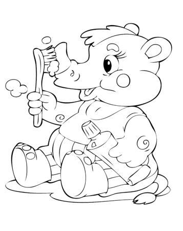 amusant: illustration de la rhinoc�ros amusante