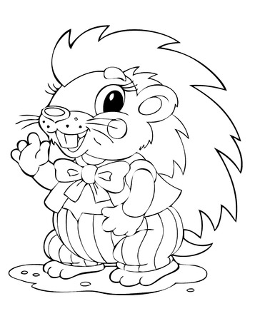 amusing: illustration of the amusing porcupine