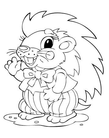 joyous life: illustration of the amusing porcupine
