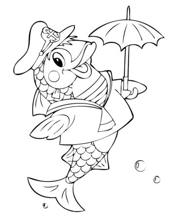 illustration of the amusing fish Vector