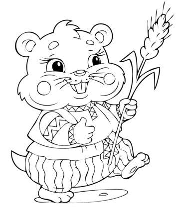 cute hamster: illustration of the joyful hamster Illustration