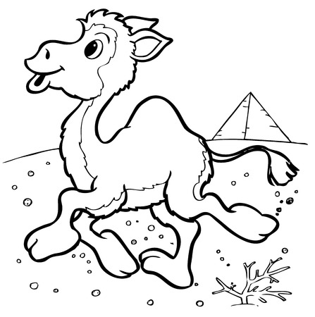 illustration of the amusing camel Vector