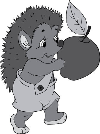 Illustration of the amusing hedgehog Vector
