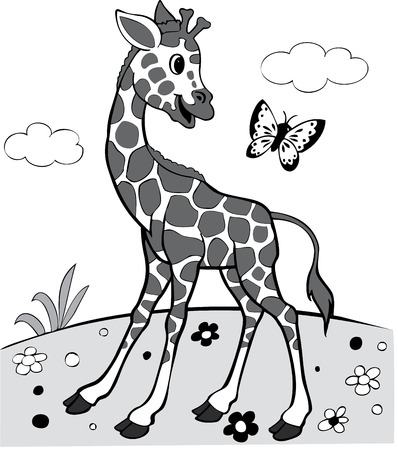 illustration of the amusing giraffe Vector