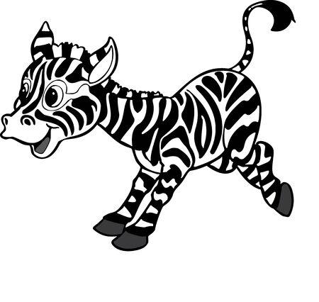 Illustration of the playful zebra Vector