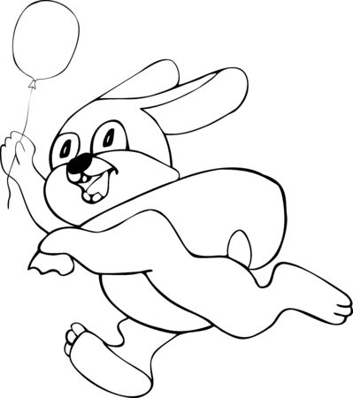 Illustration of the amusing hare Vector