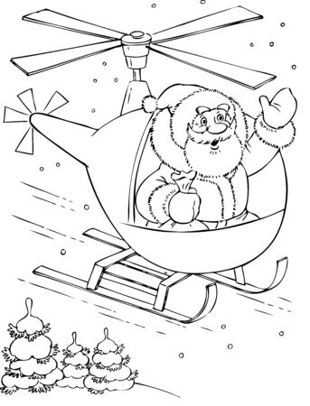 amusing: illustration of the amusing Santa Claus Illustration