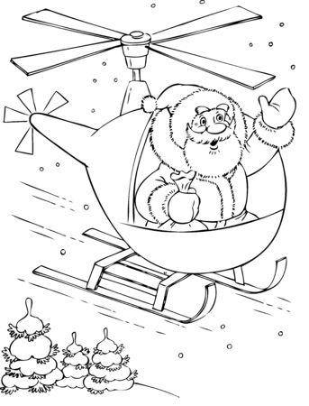 illustration of the amusing Santa Claus