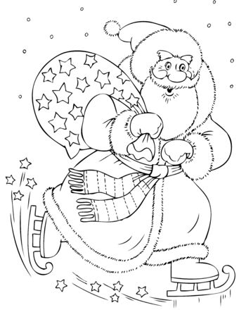 solicitous: illustration of the amusing Santa Claus Illustration