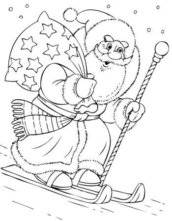 solicitous: illustration of the Santa Claus sportsman Illustration