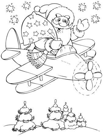 pl�schtier: Illustration von der am�santen Santa Claus