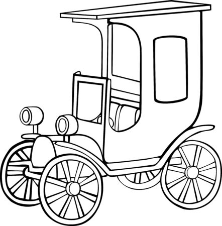 Illustration of the retro car Vector