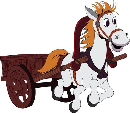 hooves: Illustrazione della woker di cavallo Vettoriali