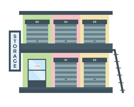 storage: Modern Flat Commercial Building - Storage Rent Warehouse