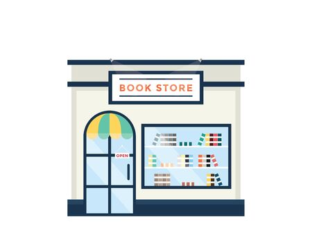 book store: Modern Flat Commercial Building - Book Store