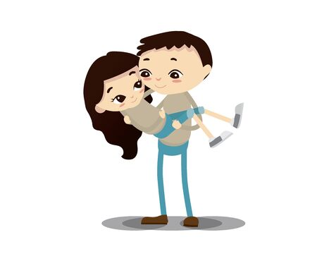 Romantic Valentine Couple Illustration - Anything For You Illustration