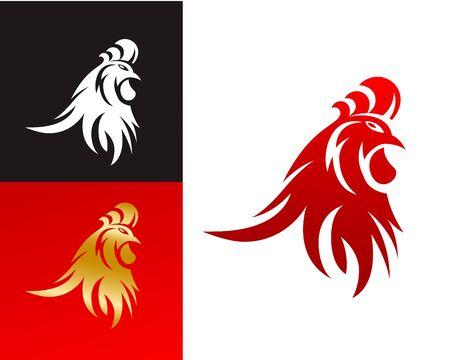 적합: Abstract Rooster Head Symbol, Suitable for Chinese New Year 2017 Rooster Year Celebration.