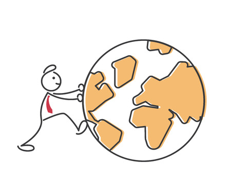 Creative Business Strategy Tips Stickman Illustration Concept - Go Global