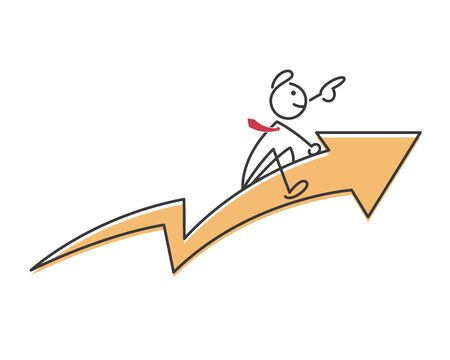 persistence: Creative Business Strategy Tips Stickman Illustration Concept - Focus And Persistence With Your Target