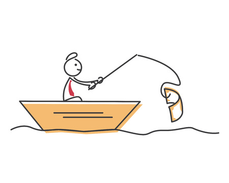 Creative Business Strategy Tips Stickman Illustration Concept - Be Patience In Every Move