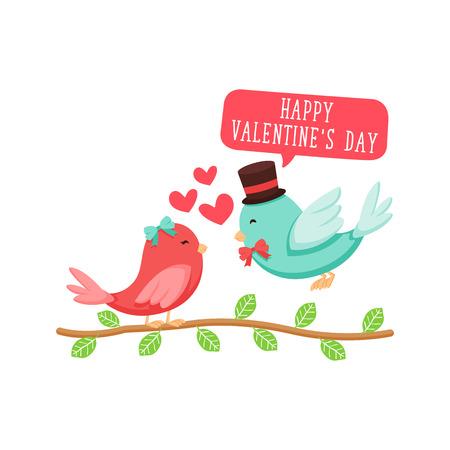 Tarjeta moderna romántica Happy Valentine, conveniente para la invitación, la bandera del Web, Redes Sociales, y la otra ocasión Valentine Relacionados