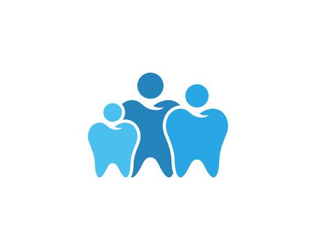 Modern Dental Logo Symbol - Family Dentistry Иллюстрация