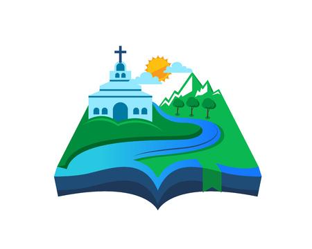 pentecost: Modern Church Logo - River Bibble