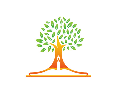Modern Church Logo - Bible Tree Symbol