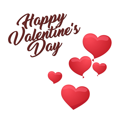 Modern Romantic Happy Valentine Card, Suitable for Invitation, Web Banner, Social Media, and Other Valentine Related Occasion