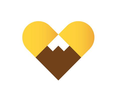 Modern Outdoor Adventure Logo - Love Mountain Symbol