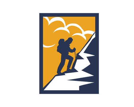 Modern Outdoor Adventure Logo - Challenging Hiking Trip