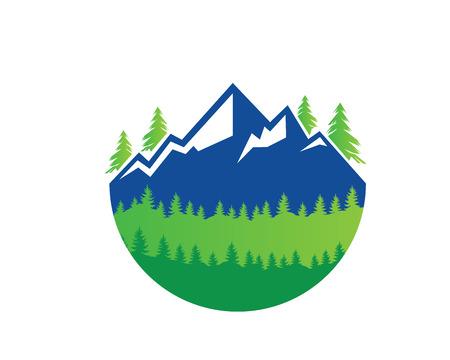 asociacion: Logotipo moderno de la aventura al aire libre - Green Fresh Mountain View Vectores