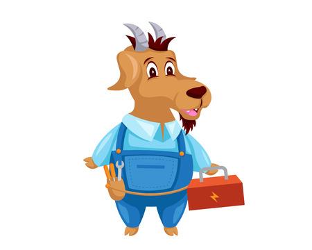 귀여운 동물 그림 - 염소 유지 관리 서비스