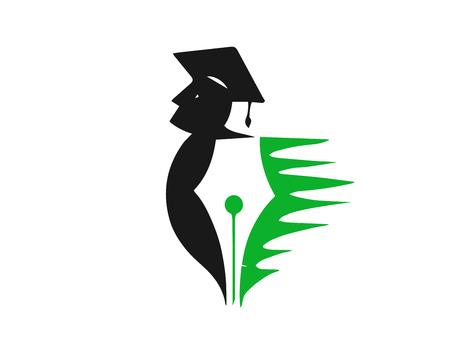 현대 교육 로고 - 녹색 교육 개념