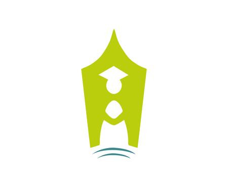 현대 교육 로고 - 녹색 학습 교육