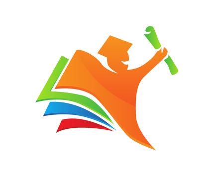Modern Education Logo - Successfull Education Concept 向量圖像
