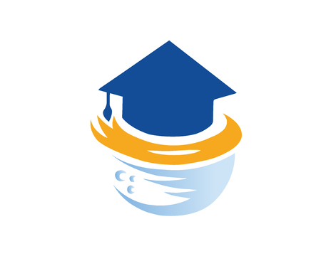 Modern Education Logo - Global Online Education Campus Stock Illustratie
