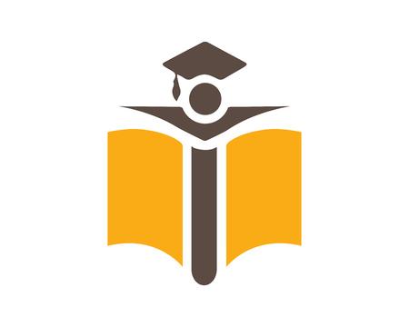 현대 교육 로고 - 나는 편지 교육 상징 일러스트