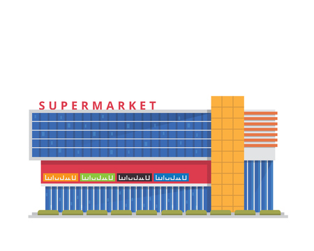 Modern Flat Shopping Mall Illustration, Suitable for Diagrams, Infographics, Game, And Other Graphic Related Assets