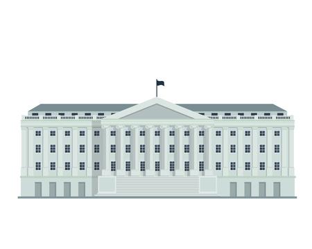 현대 평면 유명한 건물 - 재무부 건물의 워싱턴 국 일러스트