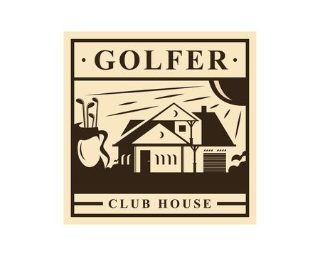 현대 골프 로고 - 골퍼 클럽 하우스