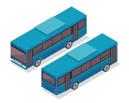 passanger: Modern Isometric Urban Vehicle Illustration Logo - Bus