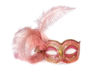 carnival mask Isolated over white photo
